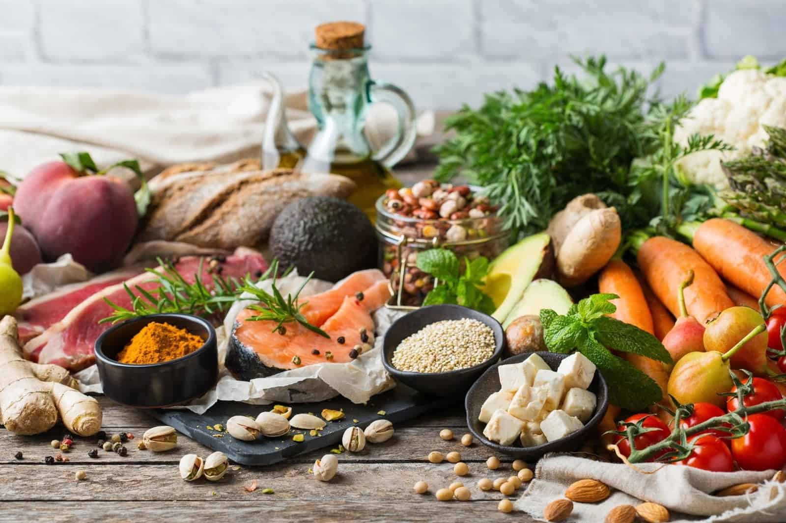 what is the best diet for me: table full of vegetables, fruits, spices and nuts