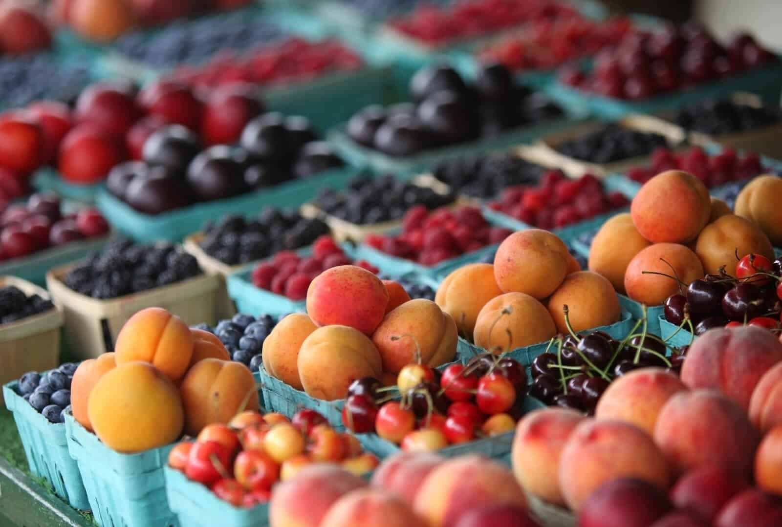 Various fruits in the market